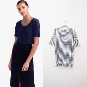 J Crew Collection Cashmere Striped 10 Percent Tee
